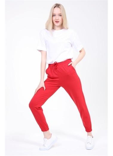 Rodi Jeans Kadın Basic Paça Lastikli Alt Eşofman TY21YB090140 Kırmızı